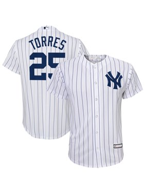 Gleyber Torres New York Yankees Majestic Youth Home Replica Player Jersey - White/Navy