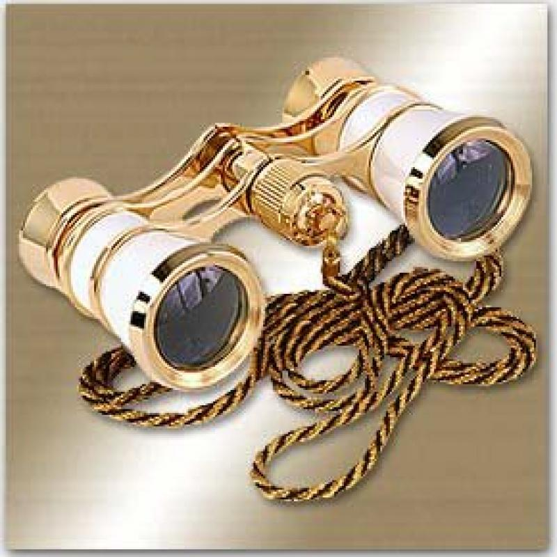 Image of LaScala Optics Carmen Opera Glasses White/Gold