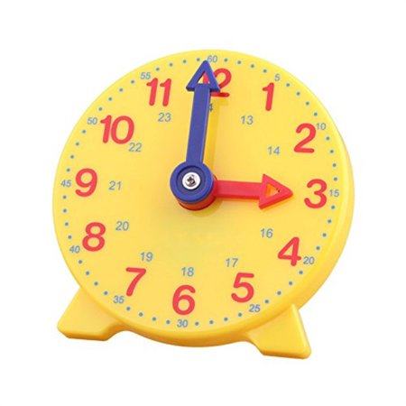 DHCHAPU Student Learning Clock Time Teacher Gear Clock 4 Inch 1224 Hour