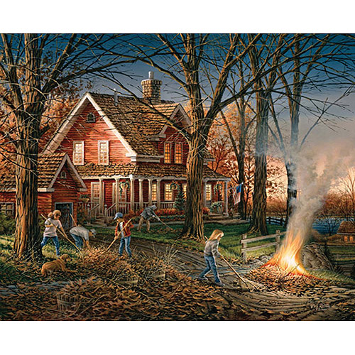 "Jigsaw Puzzle Terry Redlin 1000 Pieces 24"" x 30"", Autumn Evening"