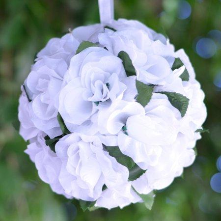 Efavormart 4 PCS Rose Pomander Silk Flower Balls for DIY Wedding Bouquets Centerpieces Arrangements Decorations Wholesale Supplies ()