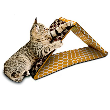 Ourpets Company-Cosmic Catnip 2-n-1 Dual Incline Cat Scratcher