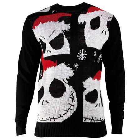 Mens Jack Skellington Christmas Sweater