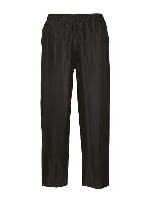 Portwest S441BKRM Classic Adult Rain Trousers - Black, Medium