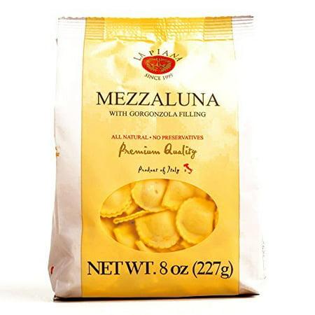 La Piana Mezzaluna Pasta with Gorgonzola Filling 8 oz each (2 Items Per Order) (8 Mezzaluna)