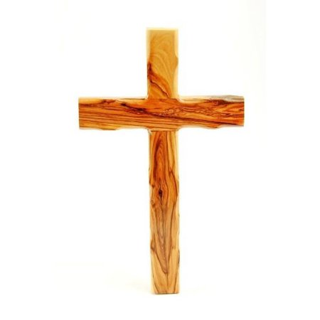 wall cross-olive wood-plain-8 in. by bethlehem gifts (Bethlehem Outlet Mall)