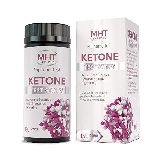 150 Count Advanced Ketone test strips by MHT STRIPES - Perfect for Ketogenic Diet and Diabetics