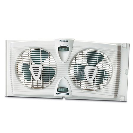 Holmes hawf2030 dual blade twin window fan with thermostat for 18 window fans