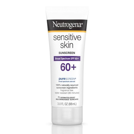 Neutrogena Sensitive Skin Sunscreen Broad Spectrum SPF 60+, 3 Oz, 6