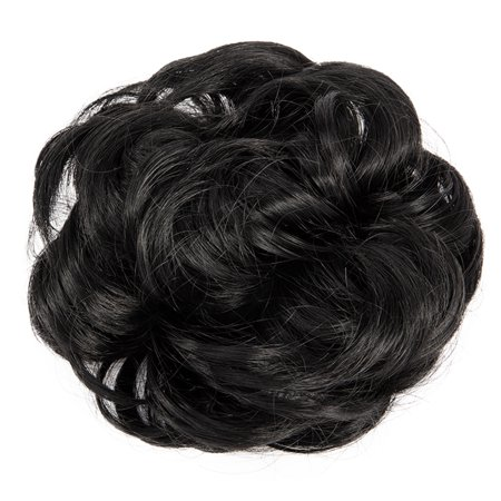 Dark Black Synthetic Clip in Messy Hair Bun Chignon Donut Ponytail Wig for  Women Curly Scrunchine Ponytail Hair Extensions - Walmart.com cca59b1cca73