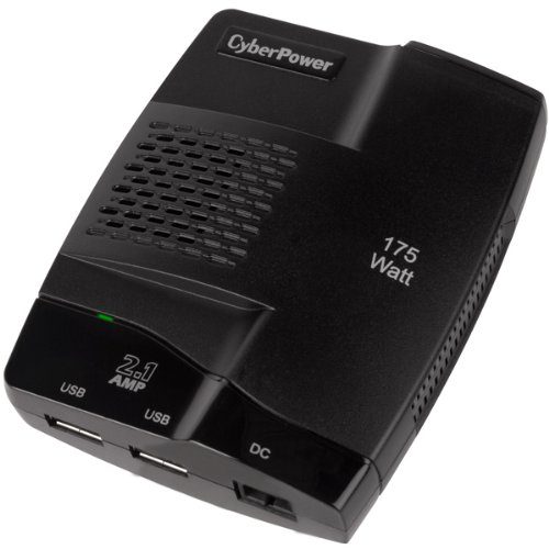 Cyberpower CPS175S2U Power Inverter Mobile 175w Usb Pwr 2.1a Charger Auto Plug 2 Yr Warr