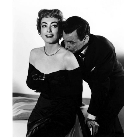 Joan Crawford with an actor kissing her shoulder Photo Print (Cindy Crawford Photos)