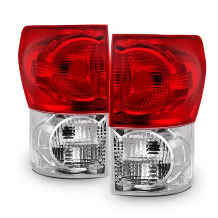 Fits 2007 2008 2009 Toyota Tundra LH+RH Side Tail Lights Tail Lamps - Red