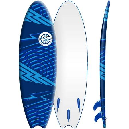 Bloo Tide 6' Blue Soft Top Surfboard, Fins & Leash (Best Soft Top Surfboard)