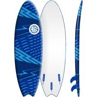 Bloo Tide 6' Blue Soft Top Surfboard, Fins & Leash Included