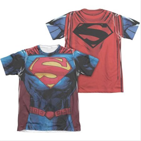 New 52 Costumes (Superman 29858M Mens New 52 Costume Sublimation T-Shirt,)