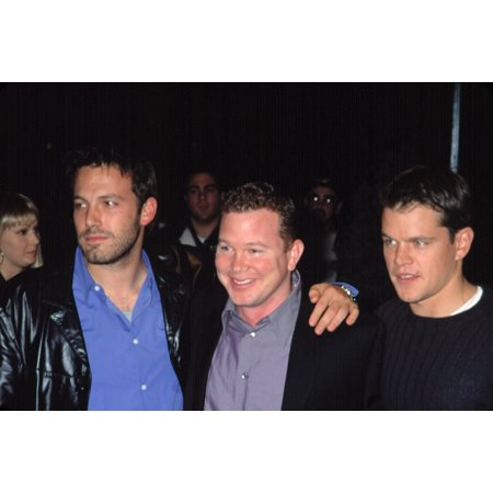 Ben Affleck And Matt Damon With Pete Jones At The Project Greenlight Premiere Nyc 11272001 By Cj Contino Celebrity