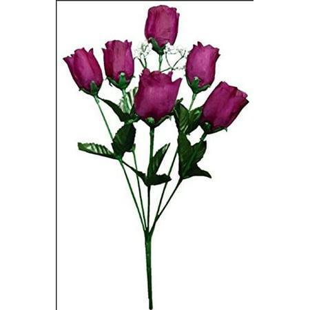 6 Rose Plum Flower Bushes 36 Silk Open Bud Roses Craft Wedding