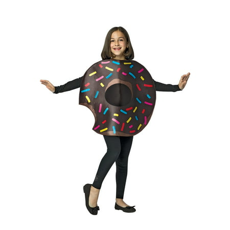 Chocolate Donut with Bite Child Halloween Costume, One Size, (7-10)](Halloween Donuts With Teeth)