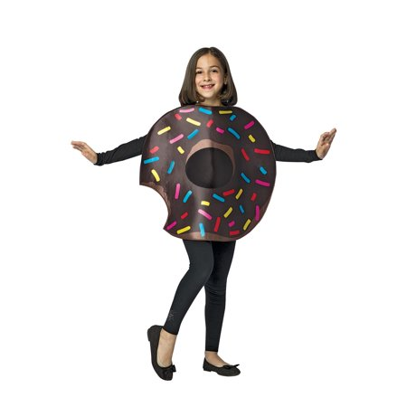 Chocolate Donut with Bite Child Halloween Costume, One Size, (7-10) (Kids Donut Costume)