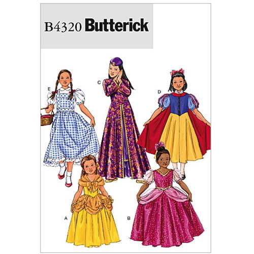 Butterick Pattern Children's and Girls' Costume, Child (2, 3) (4, 5)