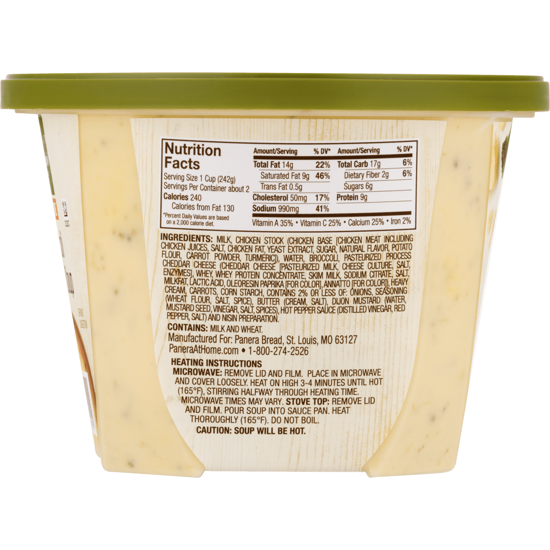 Panera Bread Broccoli Cheddar Soup 16 oz - Walmart com