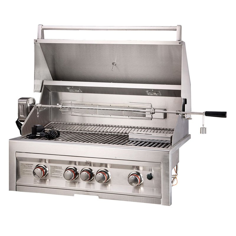 Sunstone Grills 4 Burner 34 In. Built-In Gas Grill by Texas BBQ Wholesalers