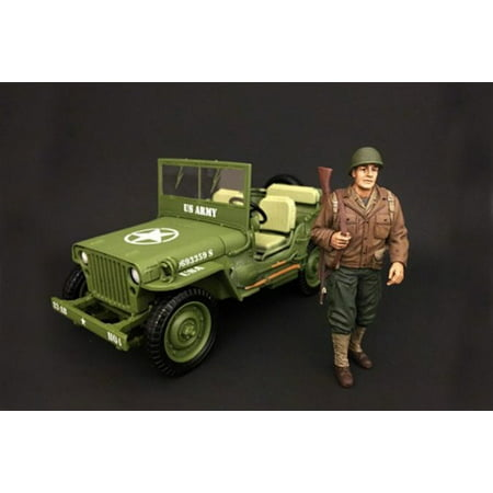 Us Army Soldiers - WWII US ARMY Soldier #1, American Diorama 77410 - 1/18 Scale Hand Painted Figure