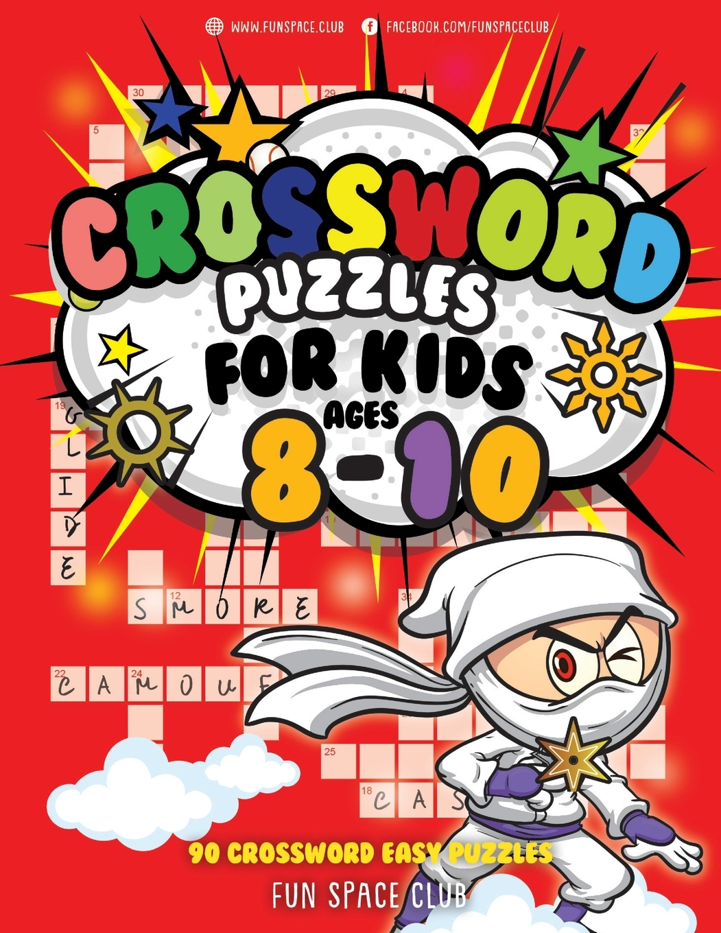Crossword Puzzles For Kids Ages 8 10 90 Crossword Easy Puzzle Books Walmart Com Walmart Com