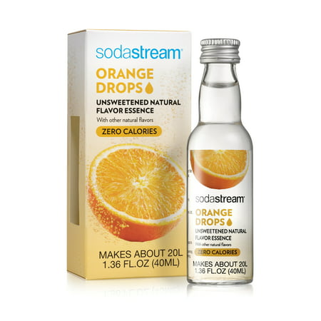 SodaStream Orange Drops Natural Flavor Essence, 1.36 Fl.