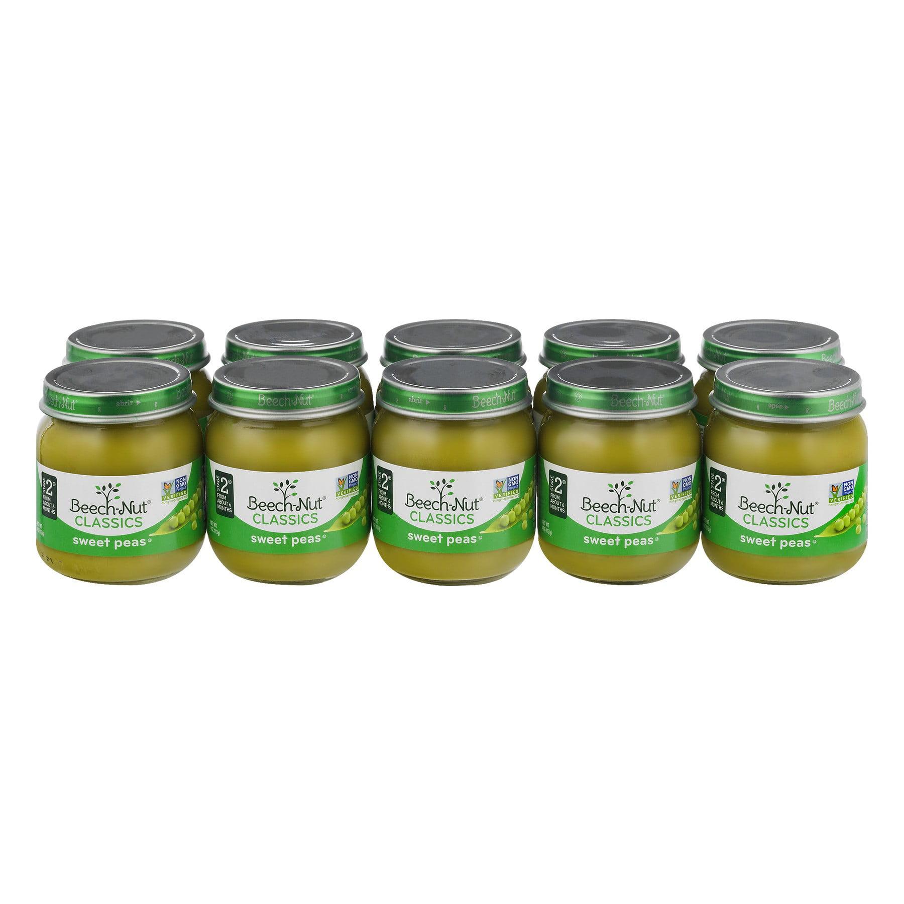 Beech-Nut Classics Sweet Peas Stage 2 - 10 PK, 10.0 PACK