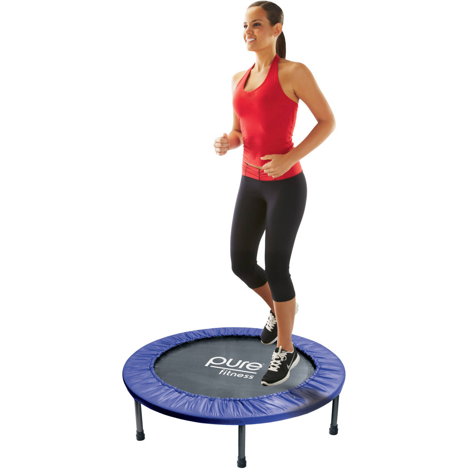 Pure Fitness 40-Inch Exercise Fitness Trampoline, Blue