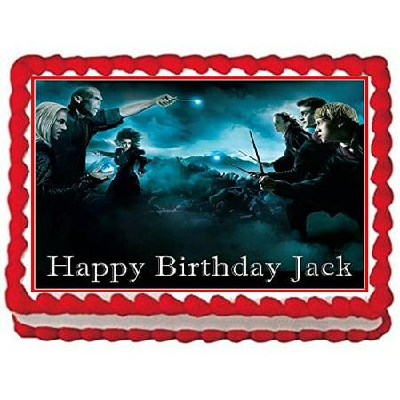 Harry Potter Cake Decorating - 1/4 Sheet Harry Potter Battle Edible Frosting Cake Topper*