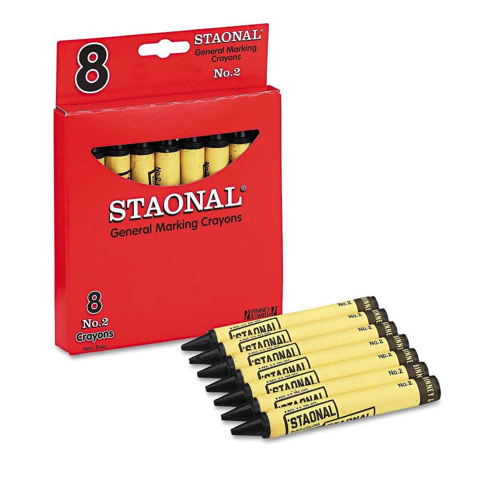Crayola Staonal Industrial Marking Crayons, Black (Jumbo, 8 Count) (Pack Of 4)