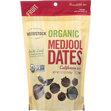 Woodstock Fruit - Organic - Dates - Medjool - California - Fancy - 12 Oz - pack of 8 ()