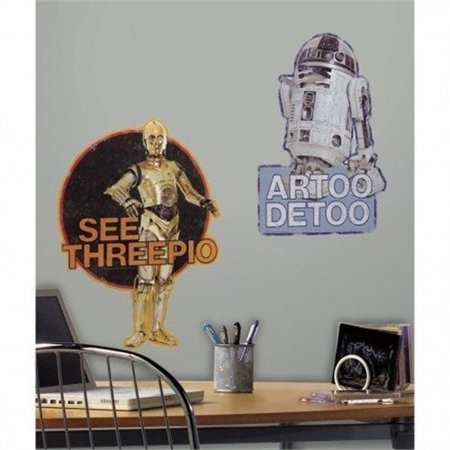 Star Wars R2-D2 and C-3PO Giant Wall Decals](Star Wars Decals)