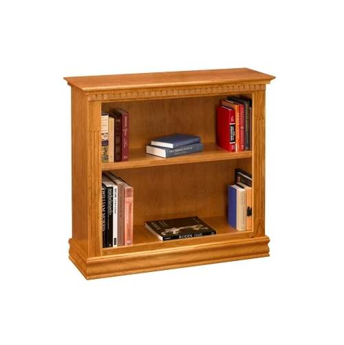 Image of 36 in. Bookcase w 2 Shelves in Cherry Finish