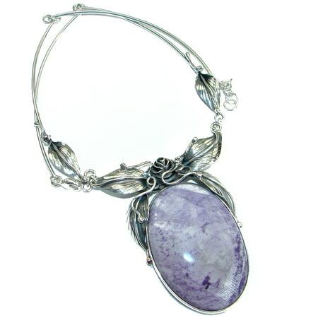 f3c820257 SilverRush Style - Vintage Design genuine Tiffany Jasper .925 Sterling  Silver handcrafted necklace - Walmart.com