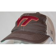 "Virginia Tech Hokies NCAA Top of the World ""Putty"" Stretch Fit Mesh Back Hat"