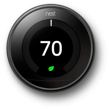 Google Nest Learning Thermostat - 3rd Generation - Mirror Black