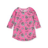 trolls little/big girls pink micro fleece pajama nightgown (4)