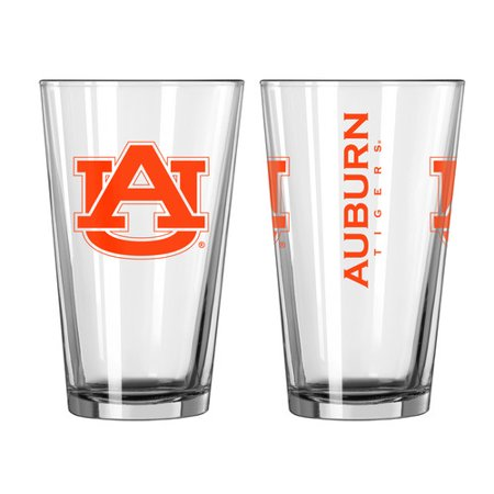 Boelter Brands NCAA Set of Two 16 Ounce Game Day Pint Set, Auburn University Tigers