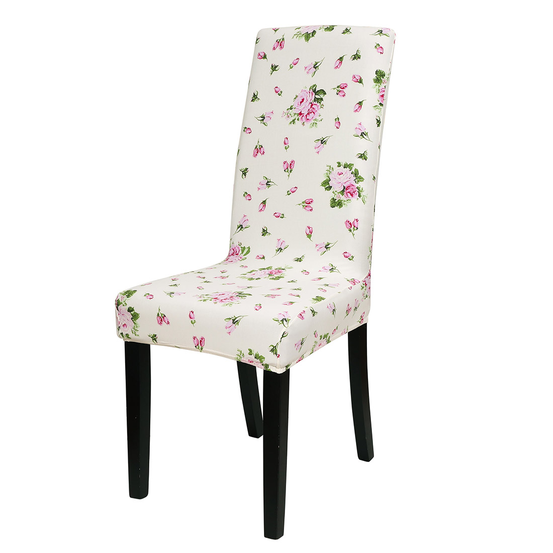 Stretch Spandex Short Slipcover Dining Chair Cover Floral ...
