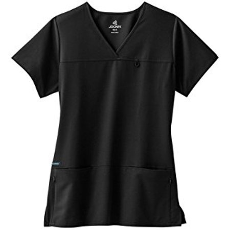 - Classic Fit Collection by Jockey Women's 6 Pocket Solid Scrub Top