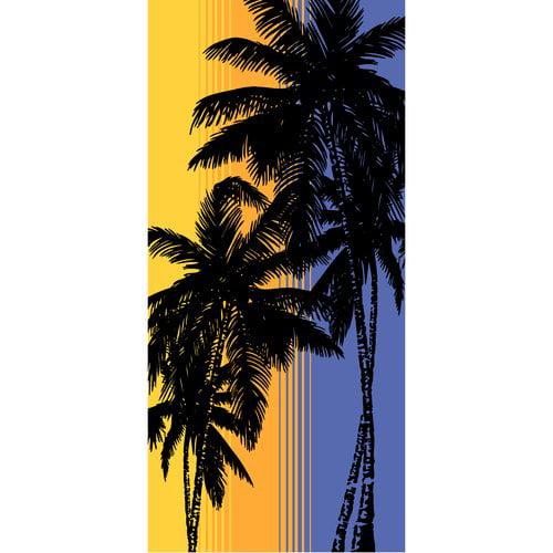 Mainstays 28x60 Beach Towel - Sunset Palm
