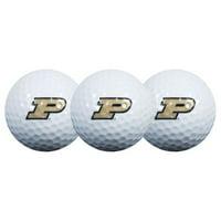Team Effort Purdue Boilermakers Golf Balls, 3 Pack