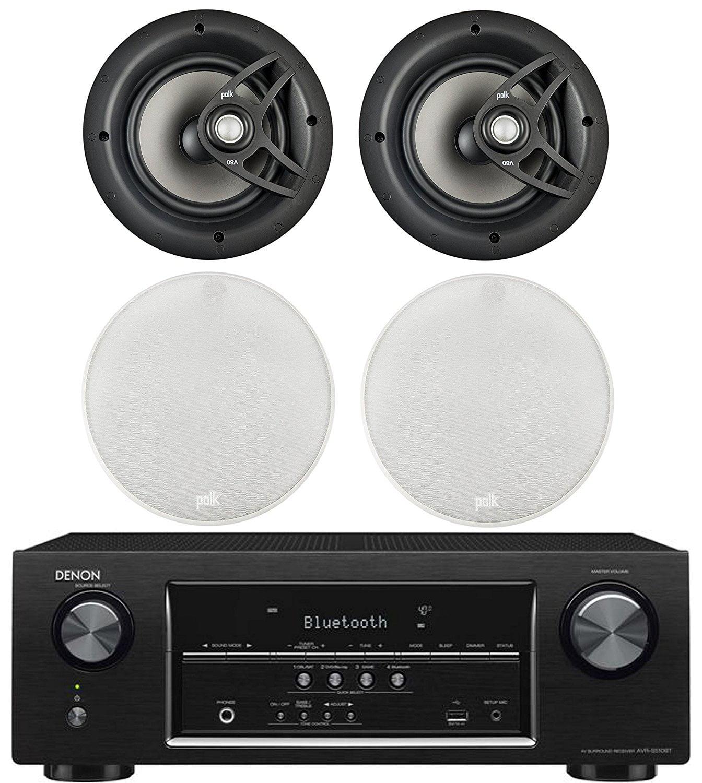 "Denon 5.2 Channel 700-Watt Full 4K Ultra HD Bluetooth AV Home Theater Receiver + Polk 8"" 2 Way High-Performance... by Denon"