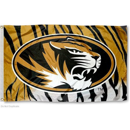 on sale 21c0e e105b Missouri Tigers Tiger Stripes 3  x 5  Pole Flag - Walmart.com