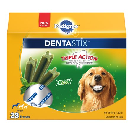 PEDIGREE DENTASTIX Fresh Large Treats for Dogs - 1.52 Pounds 28 Treats](Pound Dog)
