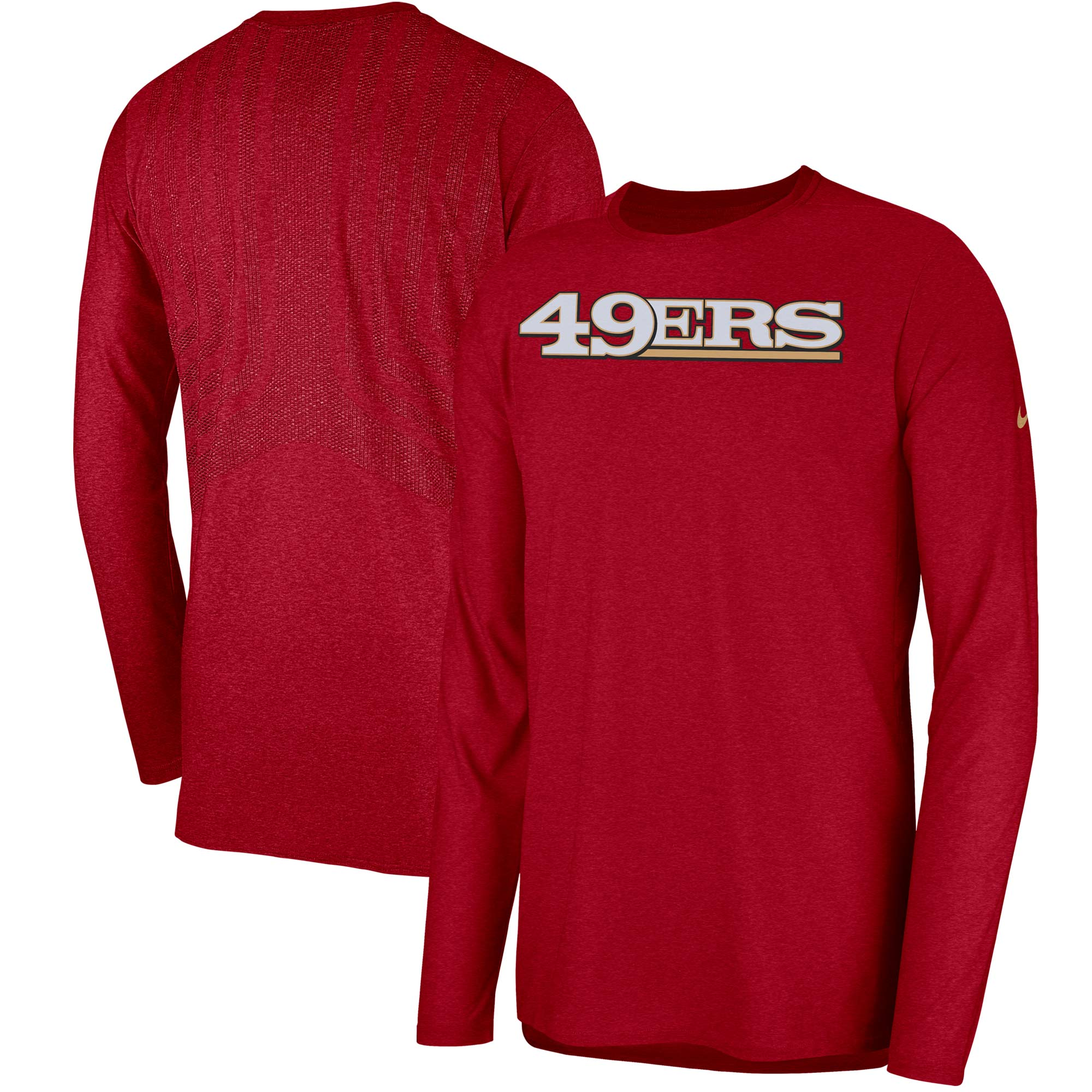 San Francisco 49ers Nike Sideline Player Long Sleeve T-Shirt - Scarlet